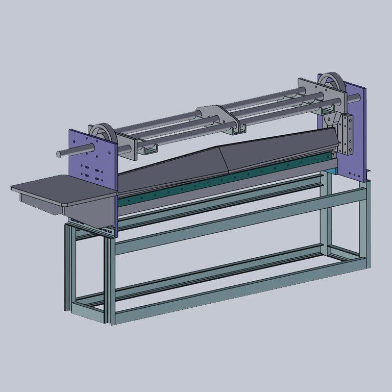 Plastic-sheet-guillotine_Cad-Design